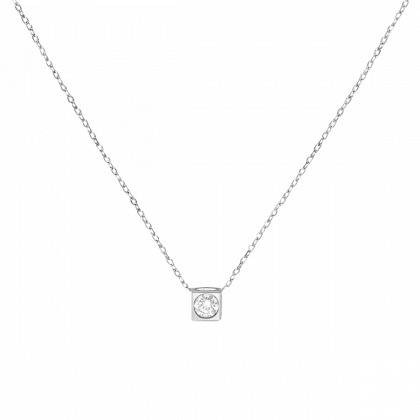 Collier Le Cube diamant